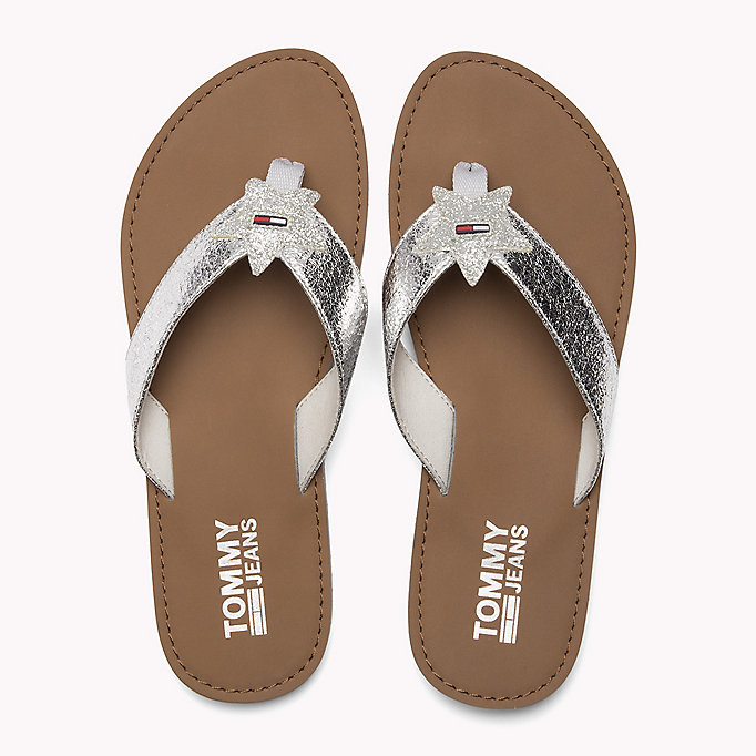 TOMMY JEANS Chanclas de playa metalizadas - LIGHT GOLD - TOMMY JEANS Zapatos - imagen detallada 3