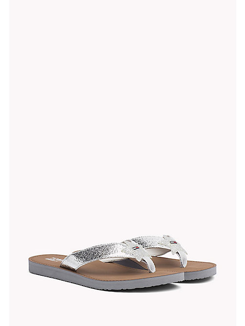 TOMMY JEANS Metallic Beach Sandals - SILVER - TOMMY JEANS VACATION FOR HER - main image
