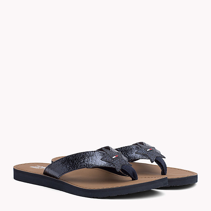 TOMMY JEANS Metallic Beach Sandals - SILVER - TOMMY JEANS SHOES - main image
