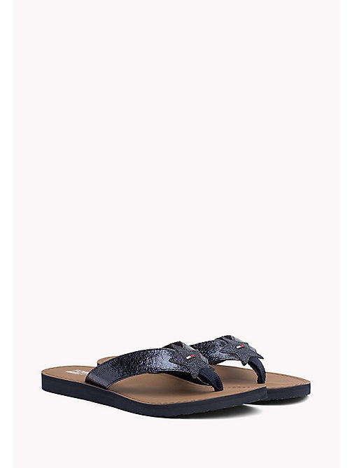 TOMMY JEANS Metallic Beach Sandals - MIDNIGHT - TOMMY JEANS WOMEN - main image