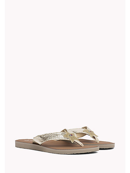TOMMY JEANS Metallic Beach Sandals - LIGHT GOLD - TOMMY JEANS Tommy Jeans Shoes - main image
