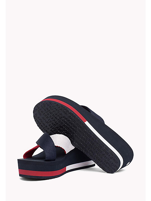 TOMMY JEANS Wedge Heel Sliders - TOMMY NAVY - TOMMY JEANS WOMEN - detail image 1