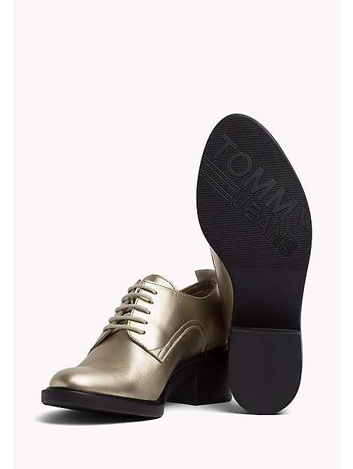 TOMMY JEANS Metallic Lace-Up Shoes - LIGHT GOLD -  WOMEN - detail image 1