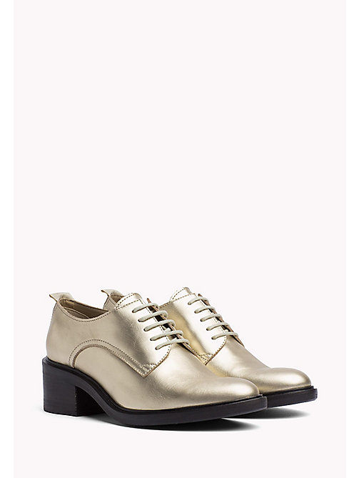 TOMMY JEANS Metallic Lace-Up Shoes - LIGHT GOLD -  WOMEN - main image