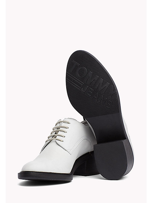TOMMY JEANS Leather Lace-Up Shoes - OFF WHITE -  WOMEN - detail image 1