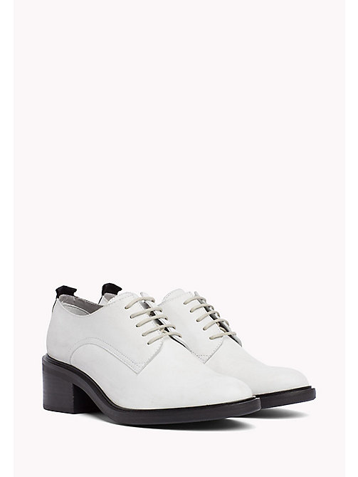 TOMMY JEANS Leather Lace-Up Shoes - OFF WHITE -  WOMEN - main image