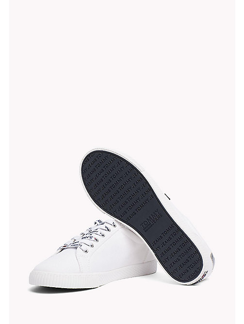 TOMMY JEANS Casual Logo Lace Trainers - WHITE - TOMMY JEANS WOMEN - detail image 1