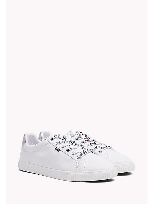 TOMMY JEANS Casual Logo Lace Trainers - WHITE - TOMMY JEANS WOMEN - main image