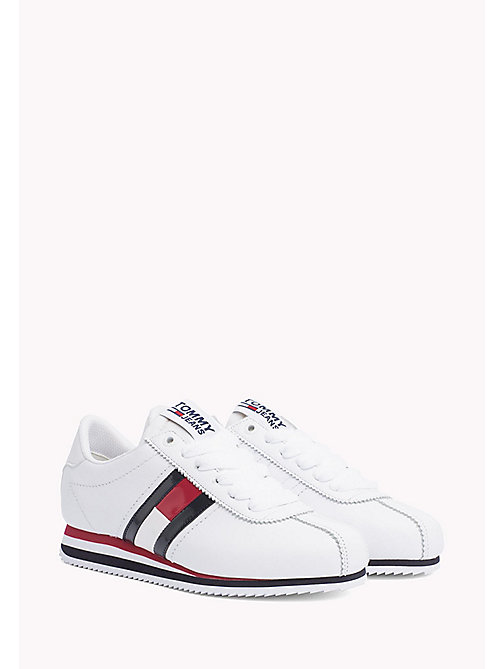 TOMMY JEANS Tommy Flag Trainers - WHITE - TOMMY JEANS WOMEN - main image