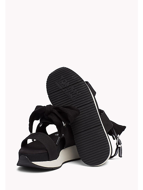 TOMMY JEANS Sporty Bow Sandals - BLACK - TOMMY JEANS VACATION FOR HER - detail image 1