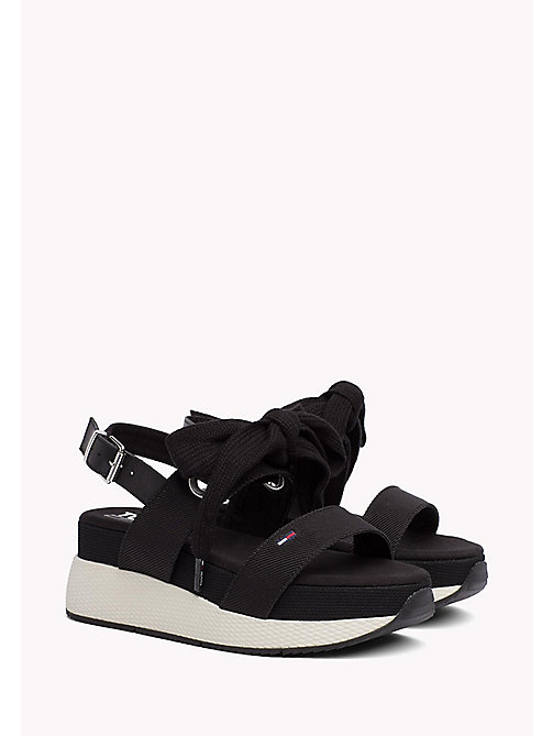 TOMMY JEANS Sporty Bow Sandals - BLACK - TOMMY JEANS VACATION FOR HER - main image