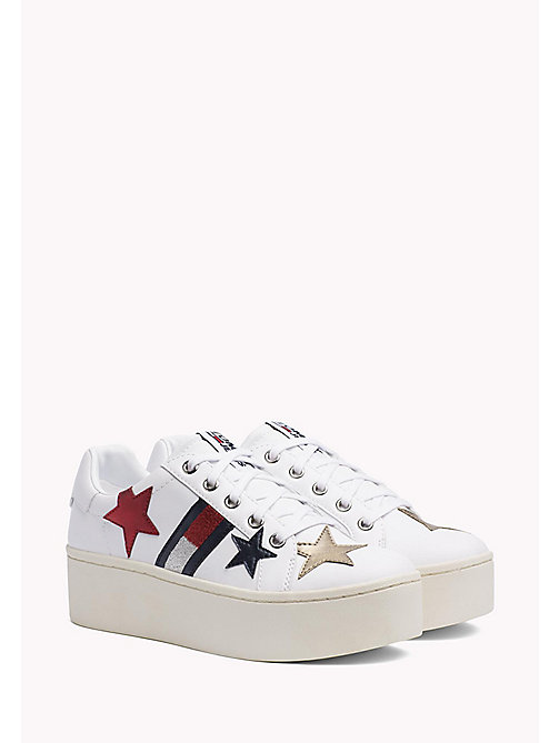 TOMMY JEANS Sparkle Plateau Trainers - WHITE - TOMMY JEANS WOMEN - main image