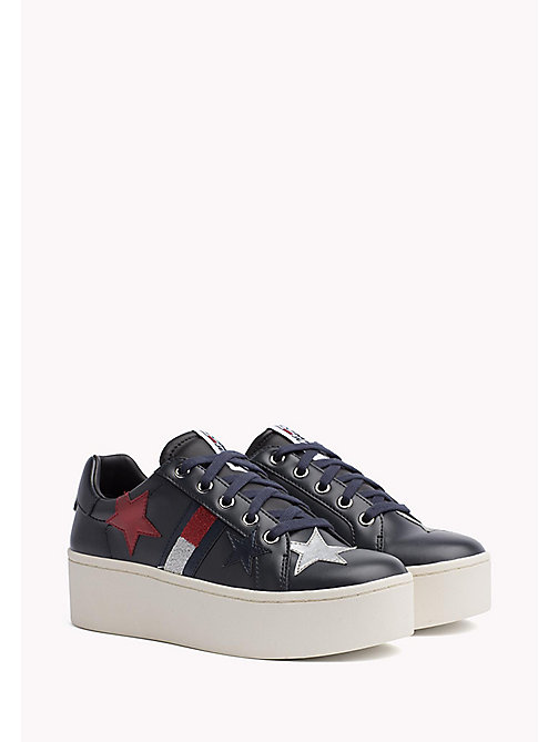 TOMMY JEANS Sparkle Plateau Trainers - MIDNIGHT - TOMMY JEANS Tommy Jeans Shoes - main image