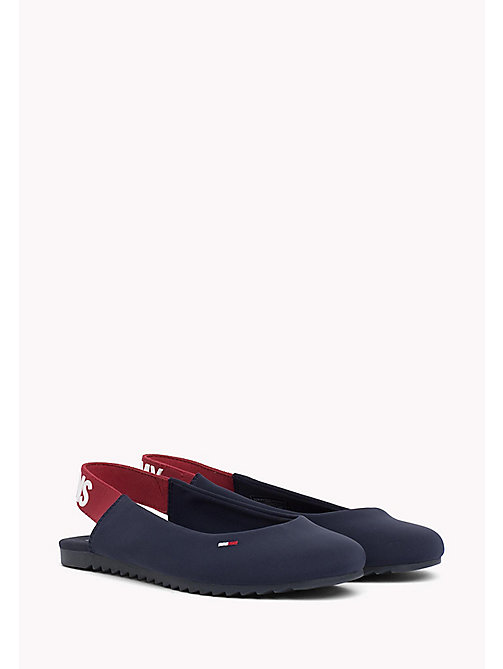 TOMMY JEANS Sporty Slingback Ballerina Shoes - MIDNIGHT - TOMMY JEANS Tommy Jeans Shoes - main image