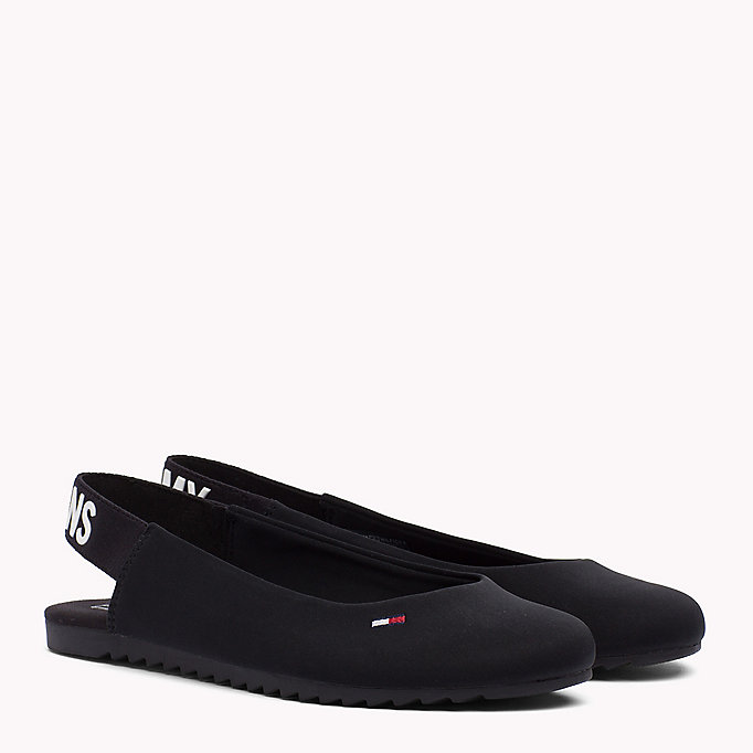 TOMMY JEANS Sporty Slingback Ballerina Shoes - MIDNIGHT - TOMMY JEANS SHOES - main image