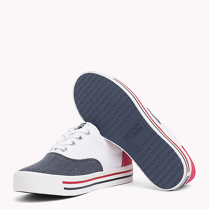TOMMY JEANS Baskets colour-block - WHITE - TOMMY JEANS CHAUSSURES - image détaillée 1