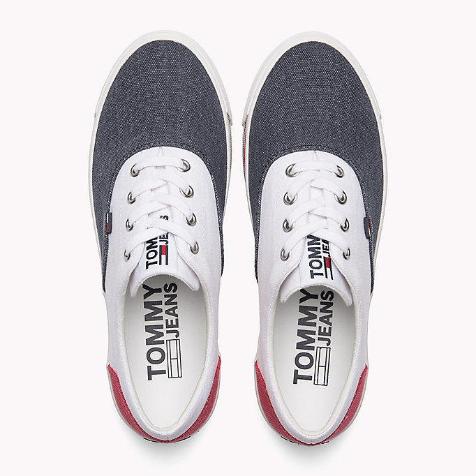 TOMMY JEANS Colour-Blocked Trainers - WHITE - TOMMY JEANS SHOES - detail image 3