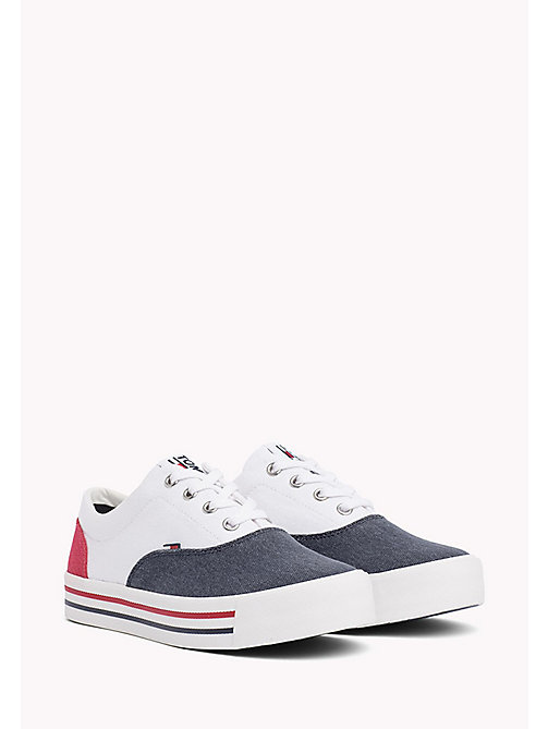TOMMY JEANS Colour-Blocked Trainers - RWB - TOMMY JEANS Tommy Jeans Shoes - main image