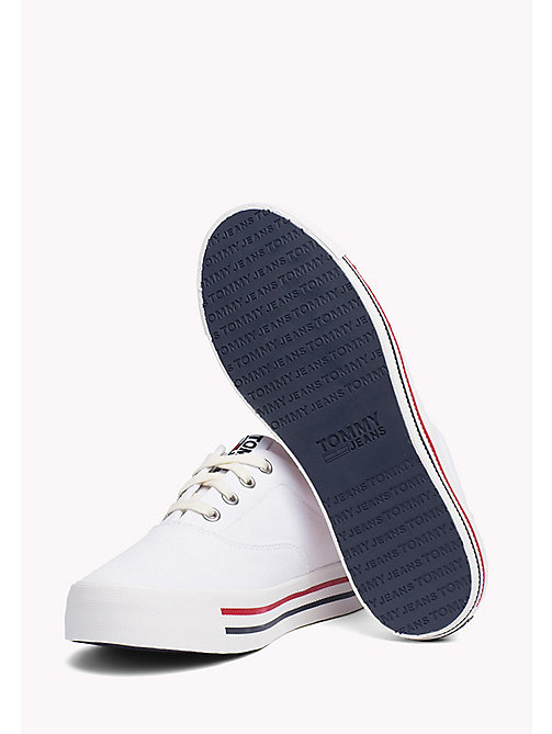 TOMMY JEANS Colour-Blocked Trainers - WHITE - TOMMY JEANS Tommy Jeans Shoes - detail image 1