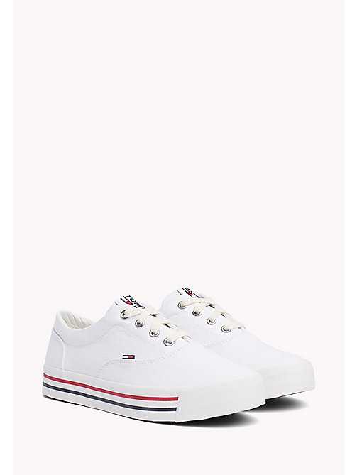 TOMMY JEANS Colour-Blocked Trainers - WHITE - TOMMY JEANS Tommy Jeans Shoes - main image