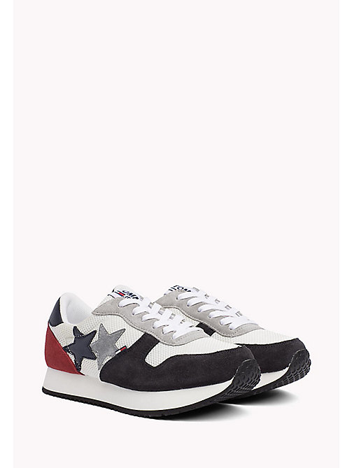 TOMMY JEANS Metallic Mesh Star Trainers - RWB - TOMMY JEANS Tommy Jeans Shoes - main image
