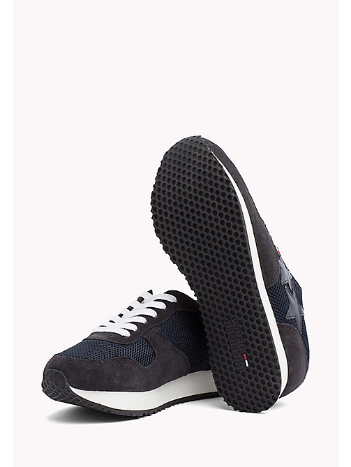TOMMY JEANS Metallic Mesh Star Trainers - MIDNIGHT - TOMMY JEANS Tommy Jeans Schuhe - main image 1