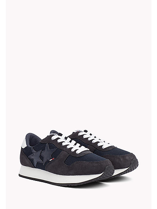 TOMMY JEANS Metallic Mesh Star Trainers - MIDNIGHT - TOMMY JEANS Tommy Jeans Shoes - main image