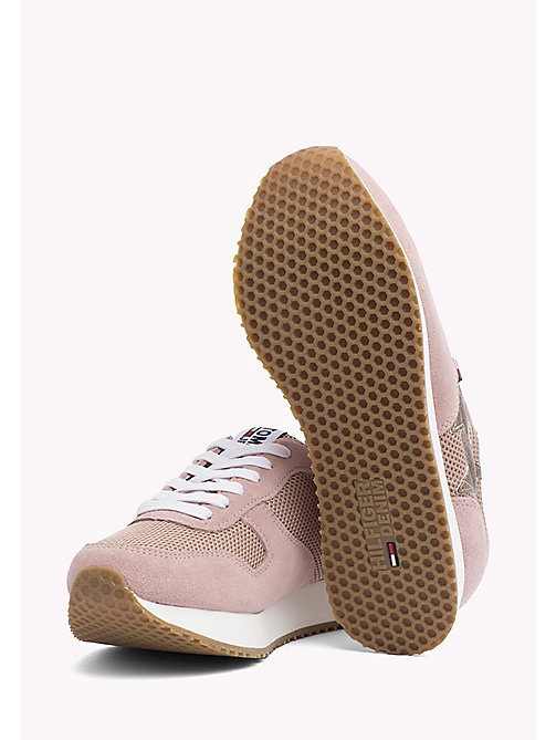 Metallic Mesh Star Trainers - MAHOGANY ROSE - TOMMY JEANS Shoes - detail image 1
