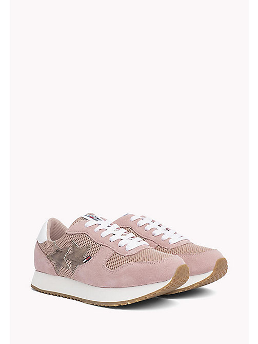 TOMMY JEANS Metallic Mesh Star Trainers - MAHOGANY ROSE - TOMMY JEANS Tommy Jeans Shoes - main image