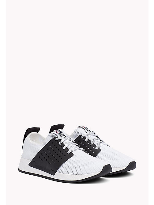 Tommy Jeans Knit Trainers - WHITE - TOMMY JEANS Shoes - main image