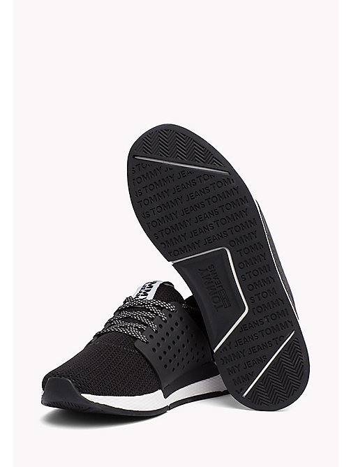 Tommy Jeans Knit Trainers - BLACK - TOMMY JEANS Shoes - detail image 1