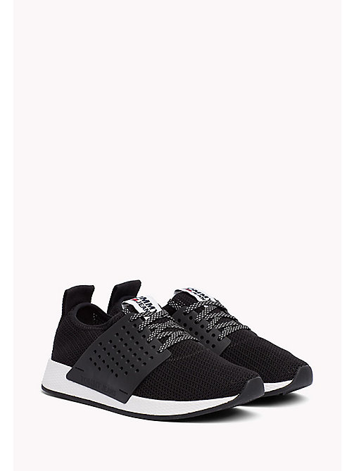 Tommy Jeans Knit Trainers - BLACK - TOMMY JEANS Shoes - main image
