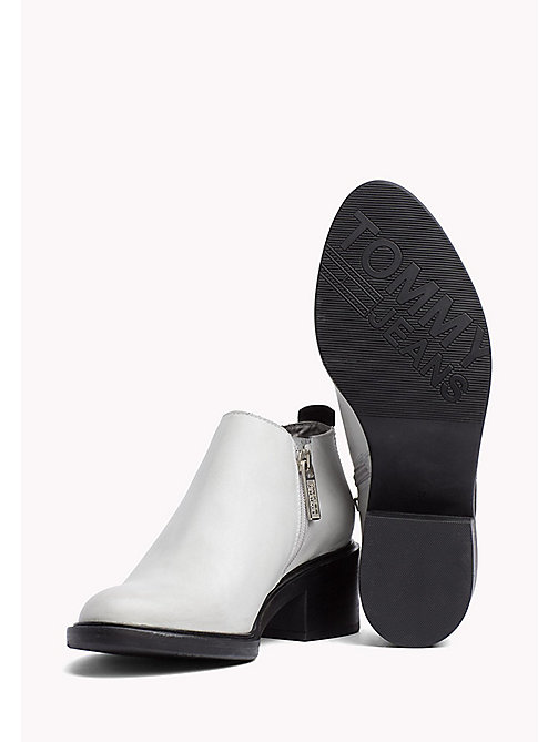 TOMMY JEANS Leather Chelsea Boots - OFF WHITE - TOMMY JEANS Shoes - detail image 1