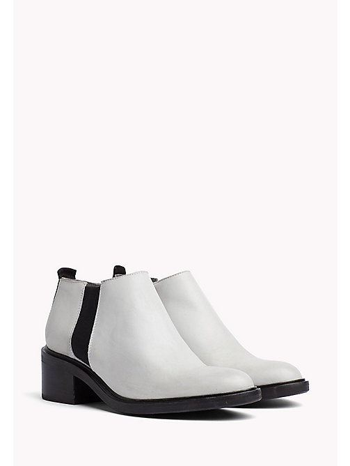 TOMMY JEANS Leather Chelsea Boots - OFF WHITE - TOMMY JEANS Tommy Jeans Shoes - main image