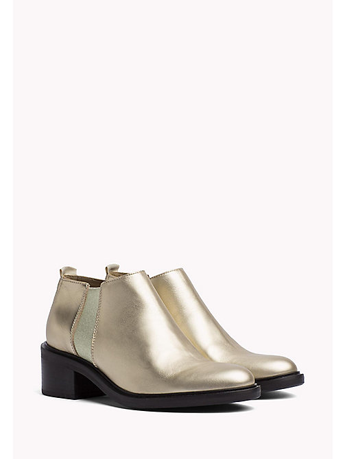 TOMMY JEANS Metallic Chelsea Boots - LIGHT GOLD - TOMMY JEANS Tommy Jeans Shoes - main image