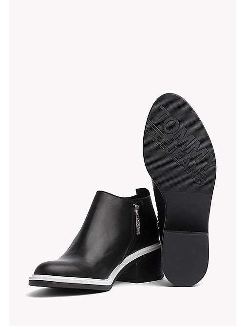 TOMMY JEANS Leather Chelsea Ankle Boots - BLACK - TOMMY JEANS Festival Season - detail image 1