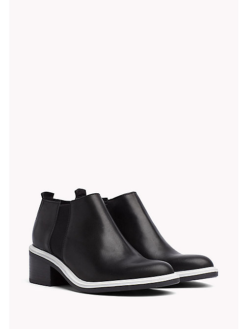 TOMMY JEANS Leather Chelsea Ankle Boots - BLACK - TOMMY JEANS WOMEN - main image