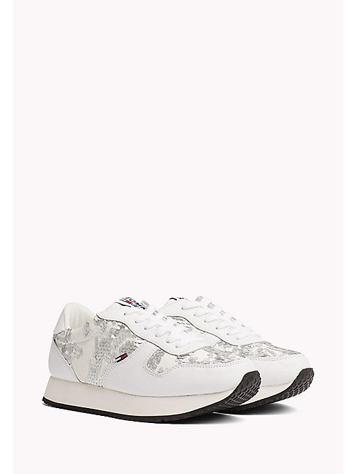 TOMMY JEANS Tommy Jeans Sequin Trainers - WHITE - TOMMY JEANS Shoes - main image