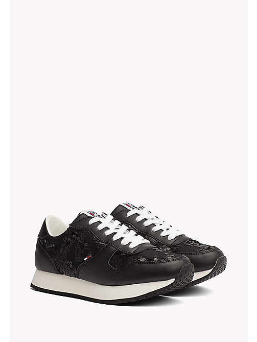 TOMMY JEANS Tommy Jeans Sequin Trainers - BLACK - TOMMY JEANS Shoes - main image