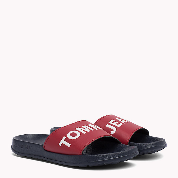 TOMMY JEANS Pool Sliders - BLACK - TOMMY JEANS SHOES - main image