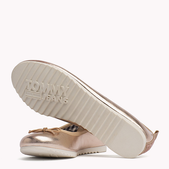TOMMY JEANS Metallic Ballerina Shoes - SILVER - TOMMY JEANS SHOES - detail image 1