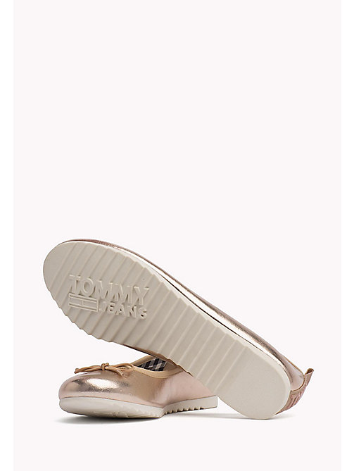 TOMMY JEANS Metallic Ballerina Shoes - ROSE GOLD - TOMMY JEANS Shoes - detail image 1