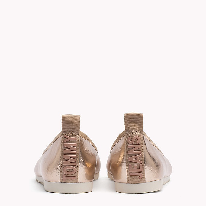 TOMMY JEANS Metallic Ballerina Shoes - SILVER - TOMMY JEANS SHOES - detail image 2