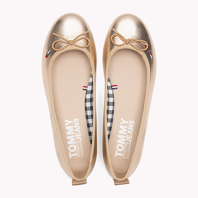 TOMMY JEANS Metallic Ballerina Shoes - SILVER - TOMMY JEANS SHOES - detail image 3