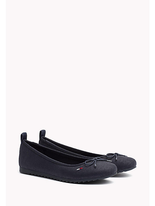 TOMMY JEANS Denim Ballerina Shoes - MIDNIGHT - TOMMY JEANS Shoes - main image
