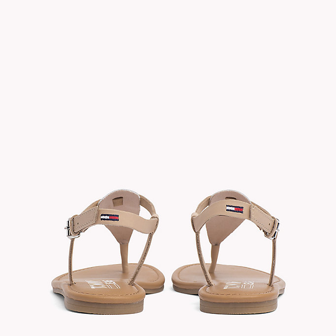 TOMMY JEANS Metallic Leather Sandals - SILVER - TOMMY JEANS Women - detail image 2