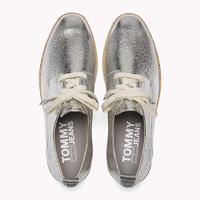 TOMMY JEANS Metallic Platform Shoes - LIGHT GOLD - TOMMY JEANS SHOES - detail image 3