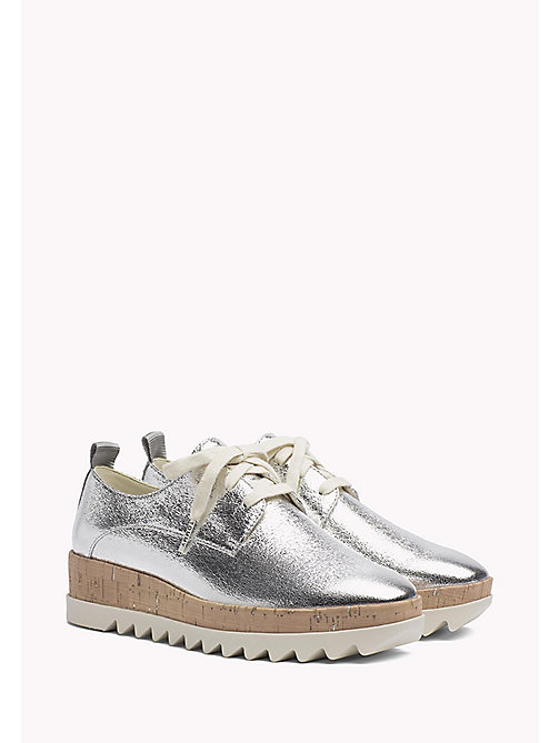 TOMMY JEANS Metallic Platform Shoes - SILVER - TOMMY JEANS Tommy Jeans Shoes - main image
