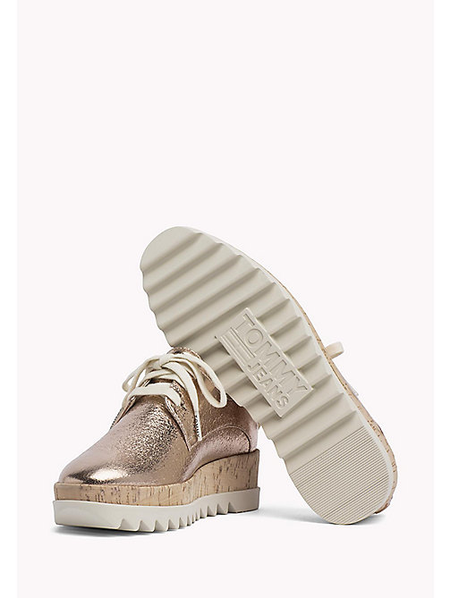 TOMMY JEANS Metallic Platform Shoes - ROSE GOLD - TOMMY JEANS Flat Shoes - detail image 1