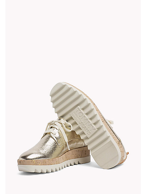 TOMMY JEANS Metallic Platform Shoes - LIGHT GOLD - TOMMY JEANS WOMEN - detail image 1